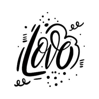 Projeto de ilustração de palavras de amor