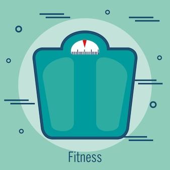 Projeto de ilustração de vetor de ícone isolado de equilíbrio de peso