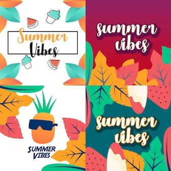 Projeto de ilustração de vibrações de verão