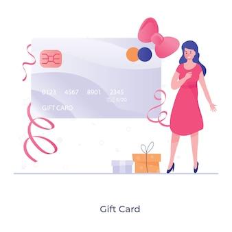 Projeto de ilustração de voucher de cartão-presente
