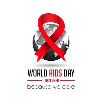 Projeto de ilustração do dia mundial da aids