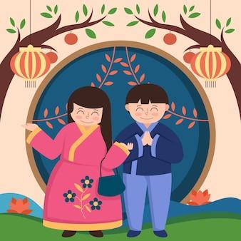 Projeto de ilustração do festival chuseok
