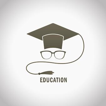 Projeto de ilustração educacional, estilo minimalista com avatar de estudante de graduação