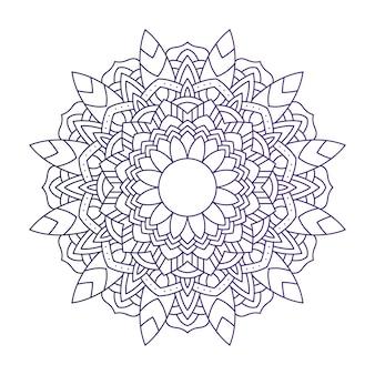Projeto de ilustração étnica de mandala roxa floral decorativa