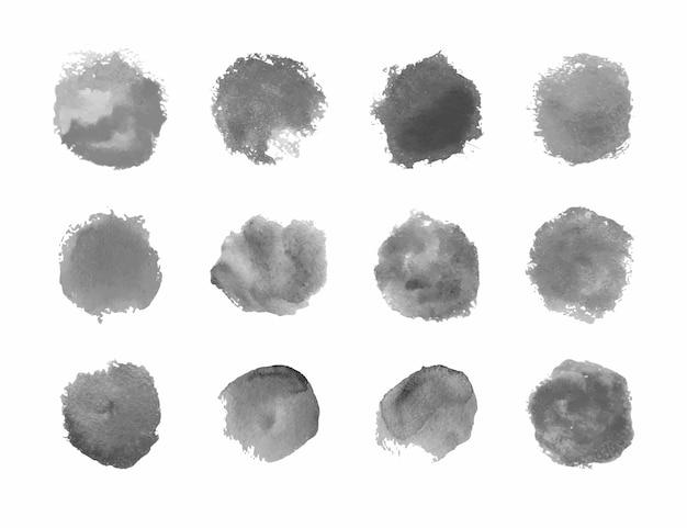 Projeto de ilustração isolada de coleções de manchas grunge
