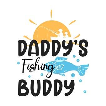 Projeto de ilustração tipográfica do amigo de pesca do papai