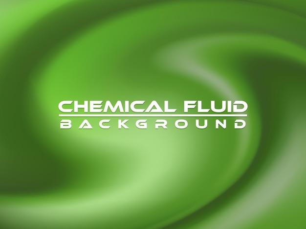 Projeto de ilustração vetorial de fundo químico fluido
