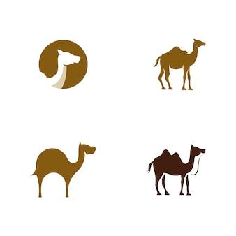 Projeto de ilustração vetorial de ícone de camelo