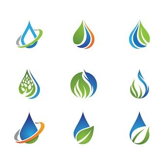 Projeto de ilustração vetorial de modelo de logotipo de gota d'água