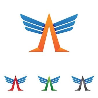 Projeto de ilustração vetorial do modelo de logotipo falcon