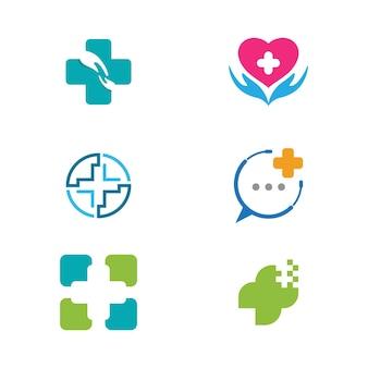 Projeto de ilustração vetorial modelo de ícone médico de saúde