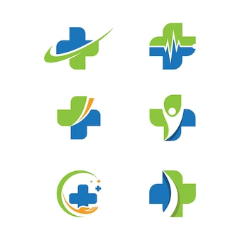 Projeto de ilustração vetorial modelo logotipo médico da saúde