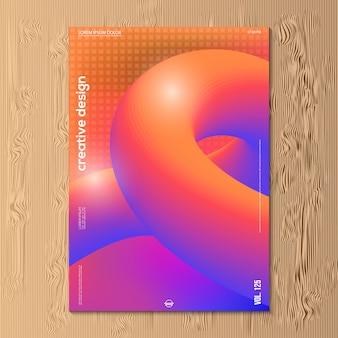 Projeto de ilustração vetorial moderna de gradiente abstrata