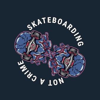 Projeto de ilustração vetorial skate quebrado
