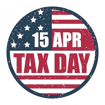Projeto de impostos, ilustração vetorial.