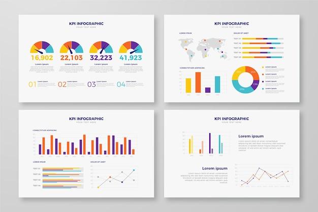 Projeto de infográfico de conceito de kpi