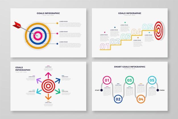 Projeto de infográfico de conceito de objetivos