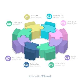 Projeto de infográfico de engrenagem
