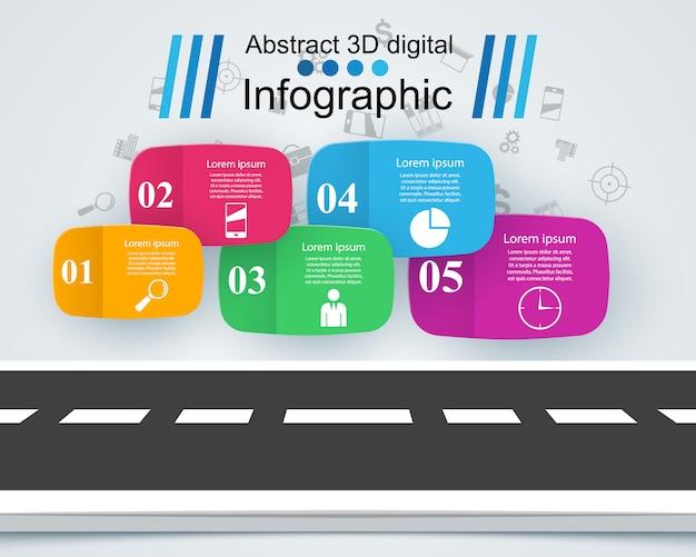 Projeto de infográfico de estrada