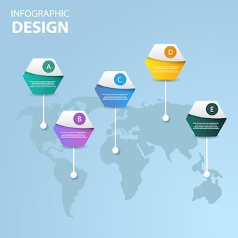 Projeto de infográfico de negócios criativos.