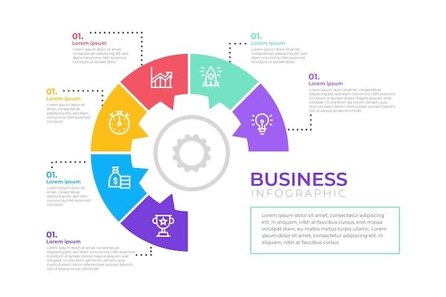 Projeto de infográfico de negócios
