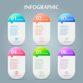 Projeto de infográfico de simplicidade com elementos de balão de fala