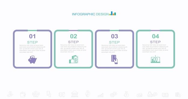 Projeto de infográficos com bolha de discurso plana vetor ilustração estoque infográfico caixa recipiente