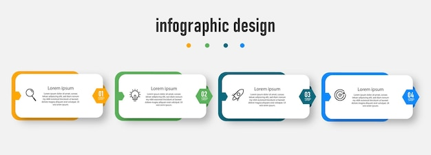 Projeto de infográficos de cronograma de etapas