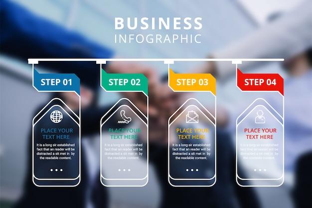 Projeto de infográficos de negócios