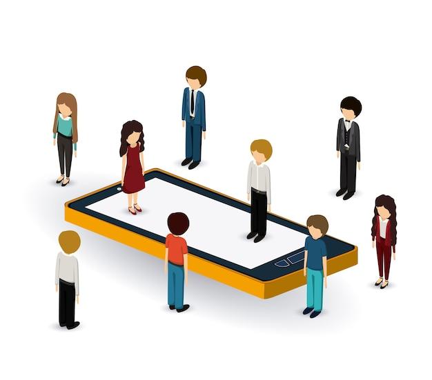 Projeto de isométricos de empresários