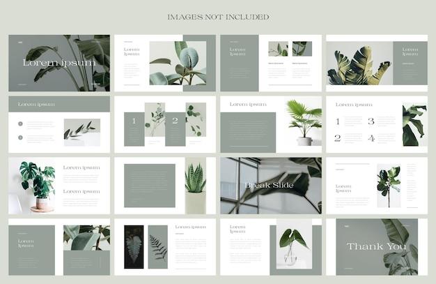 Projeto de layout de apresentação de tema de natureza moderna