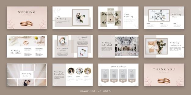 Projeto de layout de apresentação mínima de casamento