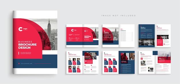 Projeto de layout de modelo de folheto de negócios corporativos moderno modelo de perfil de empresa com várias páginas