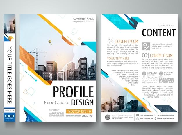 Projeto de layout de portfólio de cartaz de forma abstrata.