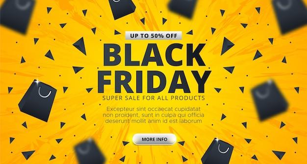 Projeto de layout do banner de venda de sexta-feira negra.