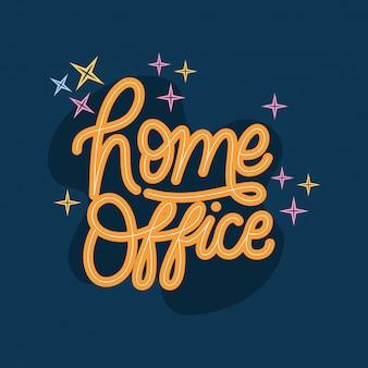 Projeto de letras de escritório em casa