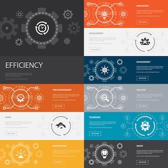 Projeto de linha de modelo de infográfico da moda sem com ícones de conteúdo de marketing digital do mecanismo de pesquisa