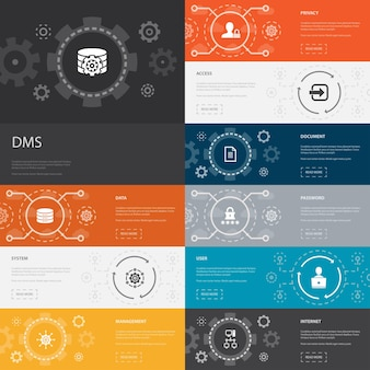 Projeto de linha de modelo de infográfico de economia de compartilhamento com ícones de crowdfunding de compartilhamento de carros em coworking