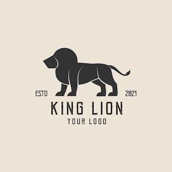 Projeto de logotipo abstrato de ilustração colorida rei leão