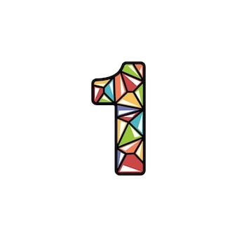 Projeto de logotipo brilhante número um