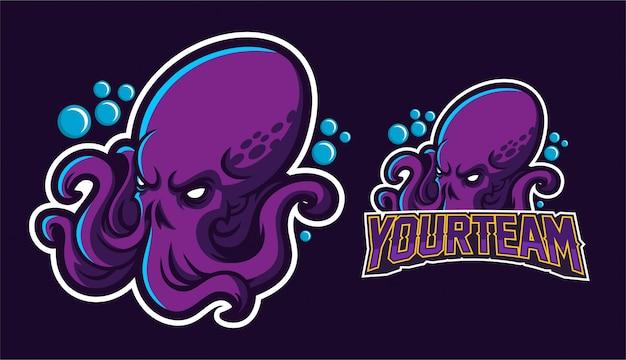 Projeto de logotipo da mascote kraken