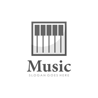 Projeto de logotipo de piano