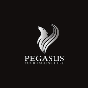 Projeto de logotipo do vetor pegasus