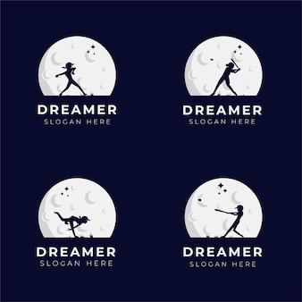 Projeto de logotipo dos sonhos de criança na coleção