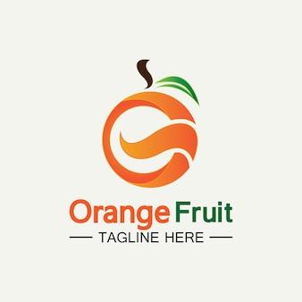 Projeto de logotipo laranja projeto de ilustração vetorial