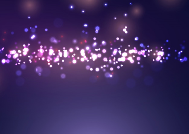 Projeto de luzes de bokeh de natal
