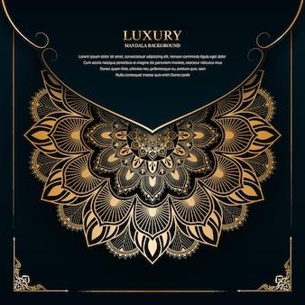 Projeto de mandalas decorativas ornamentais de luxo com um fundo