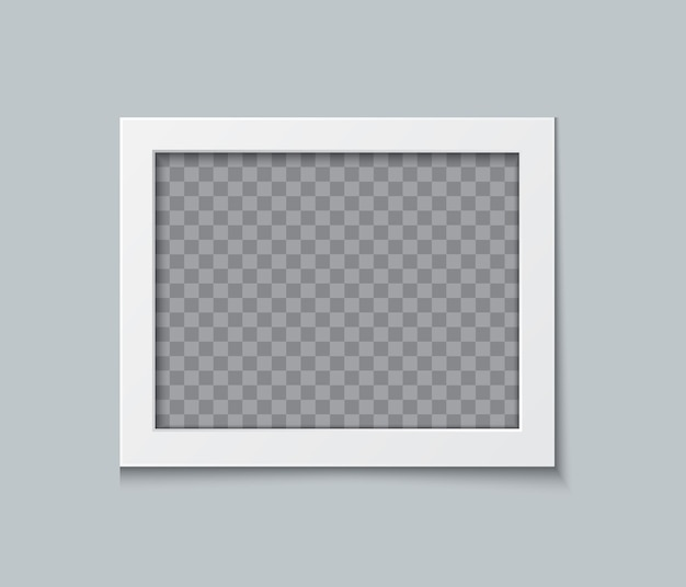 Projeto de maquete de moldura de foto. borda do papel branco isolada