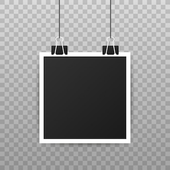 Projeto de maquete de moldura de foto. fotografia realista com espaço em branco para a sua imagem.
