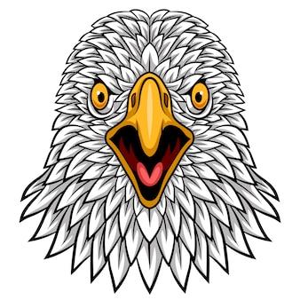 Projeto de mascote de cabeça de águia dos desenhos animados